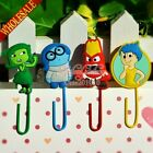 100pcs Inside Out Lovely Bookmarks For Book Holder,PVC Paper clips Students Gift