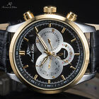 Ks 5 Colours Navigator Automatic Mechanical Mens Date Day Leather Wrist Watch