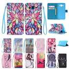 Flip Leather Wallet Case Cover Wrist Strap for Samsung Galaxy GRAND Prime G530
