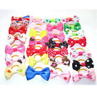 Cute Lot Small Pet Dog Hair Bows Cat Puppy Grooming Accessories w /Rubber bands