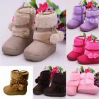 Cute Baby Kid Girls Toddler Winter Warm Snow Boots Fashion Suede Shoes US 5-13.5
