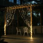 3M x 3M 300LED WHITE String Fairy Curtain Lights For Wedding X`mas Outdoor Party