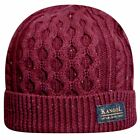 Kangol Men's Knep Cable Pull On Winter Cotton Beanie Cap Hat (One Size)