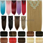 Real Thick 8Pcs Clip in Hair Extensions Extention DIY Cosplay Hair Stylish sn98
