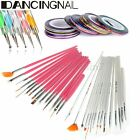 KIT Nail Art Pinceau Dotting Pen Strass Ongle Rouleaux Striping Tape Liner Fil
