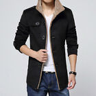 2015 New Men's Winter Wool Single-Breasted Coat M-4XL Trench Parka Overcoat WAC