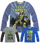 Boys Teenage Mutant Ninja Turtles TShirt New Kids Long Sleeved Top Ages 6-12 Yrs