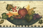 Vintage Country American Fruit Bowl Peasant Kitchen Rustic Wallpaper Wall Border