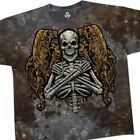 LIQUID BLUE T Shirt FALLEN ANGEL Skeleton/Goth EVIL