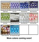 6mm Round Pearl Czech Glass Beads 25 Choose Color