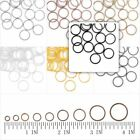 3/4/5/6/7/8/9/10mm 30g Open Jump Rings Connectors Round Iron Wholesale Findings