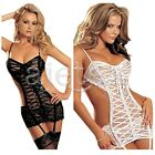 Women Sexy Hollow Lingerie Lace Dress Underwear Babydoll Sleepwear G-string