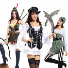 Women Shipmate Pirate Wench Musketeer Caribbean Swashbuckler Fancy Dress Costume