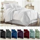 Chezmoi Collection 7-pieces Solid Color Hotel Dobby Stripe Comforter Set image