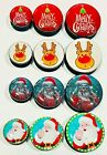 Merry Christmas or Santa Claus Screw on Ear Plug Expander Stretcher 6mm - 25mm