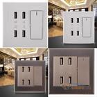 4-Port USB Home Wall Socket Charger AC Power Receptacle Outlet Plate Panel Best
