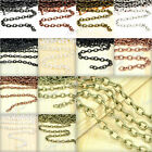 Fashion DIY Iron Cable Unfinished Chain Fit Neacklace Jewelry Making 2/4m Choose