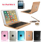 For Apple Ipad Mini 4 Wireless Bluetooth Keyboard Smart Stand Case Back Cover
