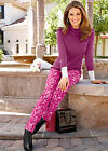 bpc Selection Stretch Jeans Purple Flower Bedruckte Stretchhose mit Blumen-Druck