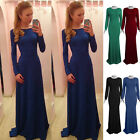 2015 Sexy Women Long Sleeve Bandage Bodycon Evening Party Cocktail Maxi Dress A
