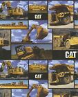 Caterpillar Construction Machines Quilt Fabric Fat Quarter
