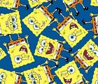 SPONGEBOB SQUAREPANTS toss : 100% LICENSED cotton  by the 1/2 metre