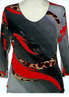 Valentina Tunic TopMulti Colored  Style 13614 3  Studed Polly NWT  Size Med