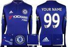 *15 / 16 - ADIDAS ; CHELSEA HOME SHIRT LS + PATCHES / PERSONALISED = SIZE*
