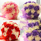"Wedding Bouquet Posy ""Handmade"" Rose Flower Silk Bridal Bouquet 3 Type choose"