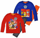 Boys Official Nickelodeon Paw Patrol Long Sleeved Pyjamas New Kids Sleepwear Set