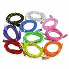 Braided 1M 2M 3M lead charger USB Data cable for iPhone 6 5 5S iPod iPad mini