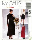 McCalls 9513 Misses Knit Dresses Sewing Pattern ***