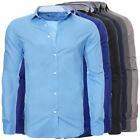 Engelleiter Men's Slim Fit Business Shirt Stretch Fitted Long Sleeve