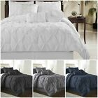 Chezmoi Collection Sydney 7-piece Pinch Pleat Pintuck Duvet Cover Set image