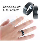 6MM Stainless Steel Men Women Ring Band Titanium Pure Solid Brushed Wedding Ring