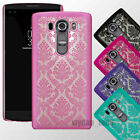 For LG V10 Hard Damask Thin Clear Lace Case Slim Back Cover