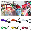 Plastic Baby Stroller Pushchair Car Hanger 2 Hooks Strap Multi Purpose Picks S
