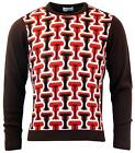 NEW MENS MADCAP ENGLAND RETRO 70s Seventies GEO PATTERN KNIT JUMPER MC232 A6 B/C