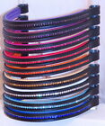 FSS Crystal Bling Padded Browband RED BLUE ORANGE GOLD PURPLE WHITE NEW IN STOCK