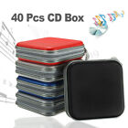 40 Disc Double-side CD DVD Storage Case Organizer Holder Hard Wallet Album Box H