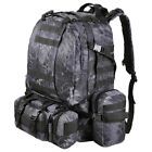 55L Outdoor Military Molle Tactical Backpack Rucksack Camping Bag Travel Hiking
