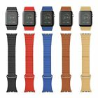 For Apple Watch 38/42mm Mens Ladies Leather Band with Magnetic Buckle Strap--New