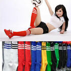 Fashion 8 Colors Long Stripe Over Knee Football Socks Soccer 35 CM Men Women