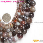 "Natural Gemstone Botswana Agate Stone Jewelry Making Beads Strand 15"" Faceted"