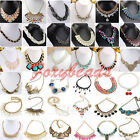 Fashion Crystal Rhinestone Gem Choker Bib Party Statement Necklace Pendant Retro