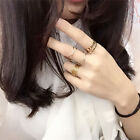 New 6 PCS Ring Set Unique Punk Gold Plated Knuckle Rings For Women Finger Ring