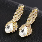Fashion Style Gorgeous Bride Noble Personality Crystal Drop Earrings Jewelry