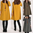 UK Pregnant Women Maternity Dress Ladies Casual V-neck Long Sleeve Loose Blouse