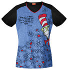 Dr, Seuss Cherokee Tooniforms V Neck Scrub Top TF600XB6 SEYT in You-er Than You