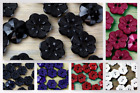Crendon Detailed Flower Shaped Plastic Buttons (2B2426-M)
